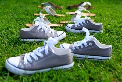 Schoenen op een rij